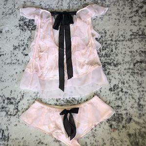 Victoria's Secret flowy ruffle sleep set